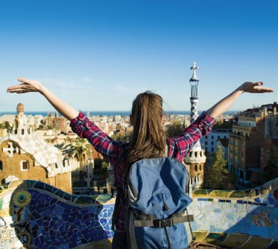Girl in Barcelona's Parc Guell