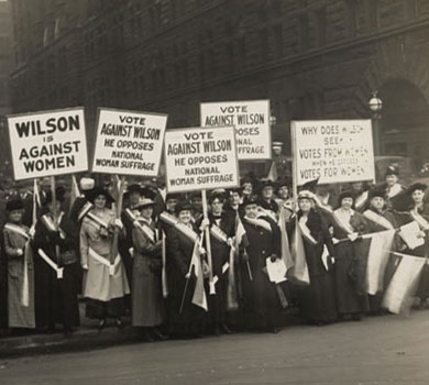 women's suffragists protesting