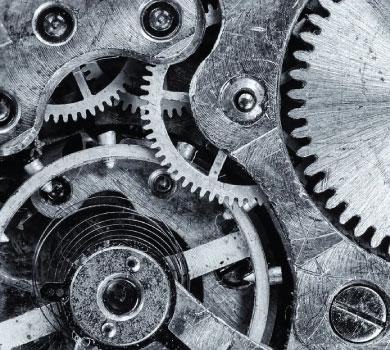gears inside a clock